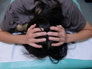 頭蓋骨矯正 美浜区打瀬在住 施術前